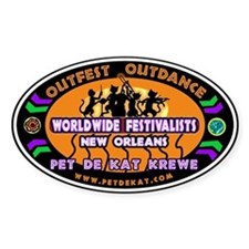 Survivor Jazz Fest Oval Decal
