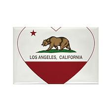 california flag los angeles heart Magnets