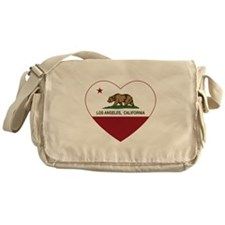 california flag los angeles heart Messenger Bag