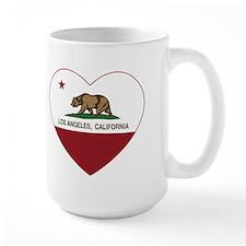 california flag los angeles heart Mugs