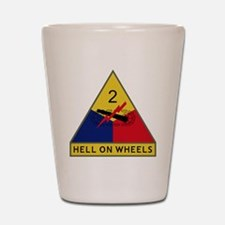 2nd Armored Division - Hell On Wheels Shot Glass
