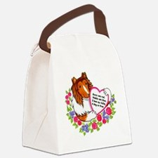 Rose-Are-Red-Collie Canvas Lunch Bag