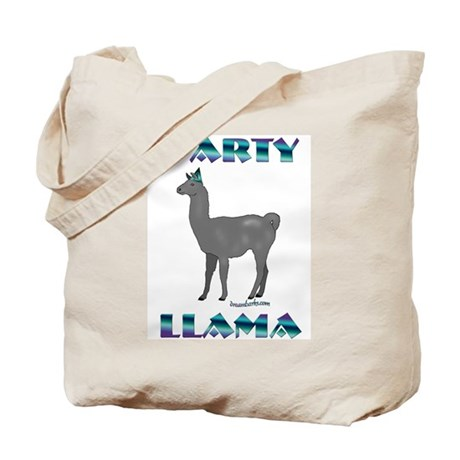 Party Llama Tote Bag