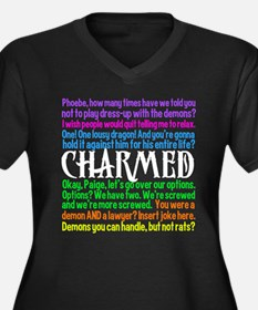 Charmed Quotes Women's Plus Size V-Neck Dark T-Shi