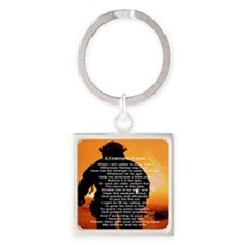 FIREMANS PRAYER Square Keychain