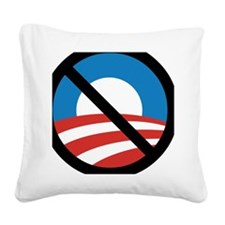 Obama Logo Crossed 5000px 0f Square Canvas Pillow