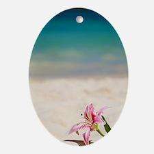 Beach Lily Oval Ornament