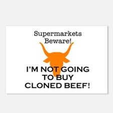 Cloned Beef Protest Postcards (Package of 8)