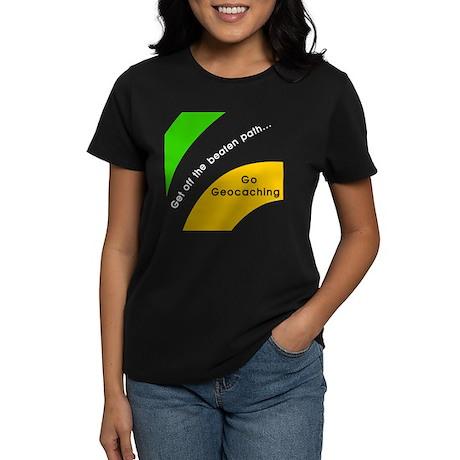 Geocaching Off the Path Women's Dark T-Shirt