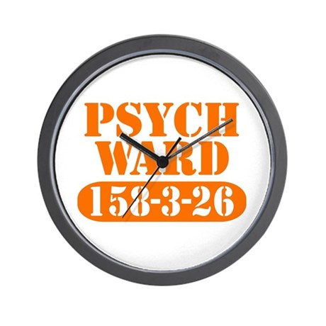 Psych Ward - Orange Wall Clock