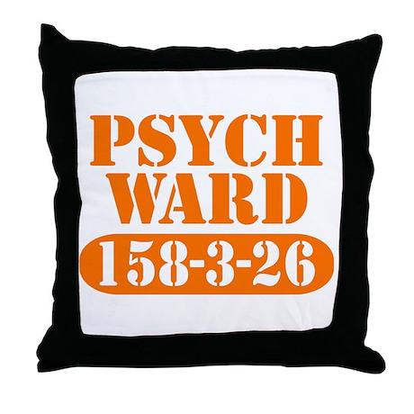 Psych Ward - Orange Throw Pillow