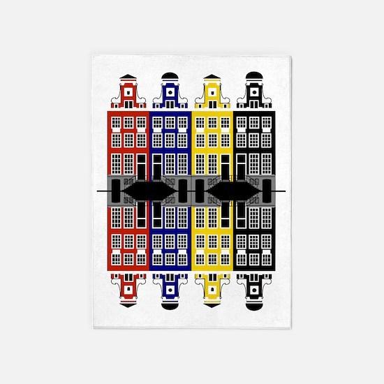 Amsterdam Architecture - Merchants  5'x7'Area Rug