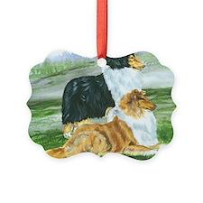 rough collie pair tri Ornament
