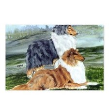 Rough Collie Pair Postcards (Package of 8)