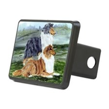 Rough Collie Pair Hitch Cover