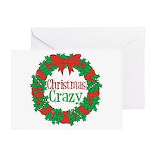 Christmas Crazy Wreath Greeting Card