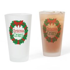 Christmas Crazy Wreath Drinking Glass