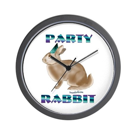Party Rabbit Wall Clock