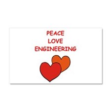 engineering Car Magnet 20 x 12