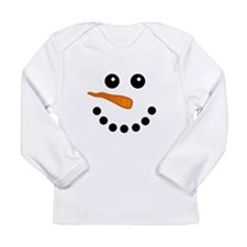 Snowman Face Long Sleeve T-Shirt