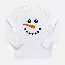 Snowman Face Long Sleeve T-Shirt
