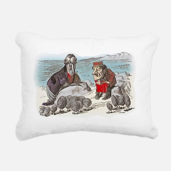 3-ALICE _Through the Loo Rectangular Canvas Pillow
