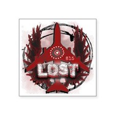 "Lost TV Wings and Plane Square Sticker 3"" x 3"""