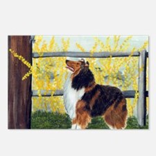 Rough Collie Spring Postcards (Package of 8)