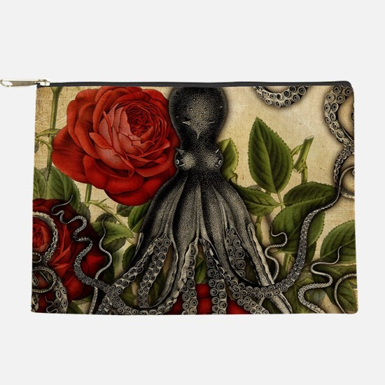 Tentacles And Roses Makeup Pouch