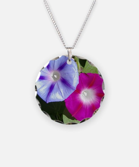 Lavender Fushia Morning Glo Necklace