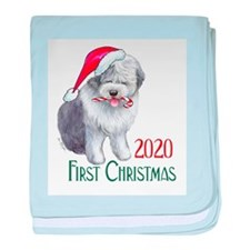 2014 Sheepdog First Christmas baby blanket
