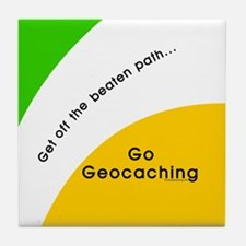 Geocaching Off the Path Tile Coaster