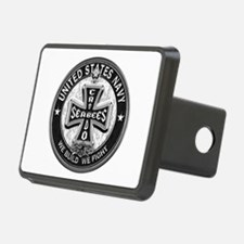 US Navy Seabees Cross Black Hitch Cover