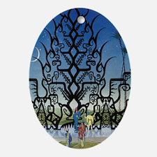 Gate of Ebony Oval Ornament
