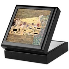 The_Kiss_Gustav_Klimt_2000sq_rot Keepsake Box