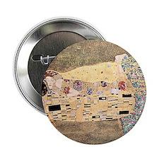 """The_Kiss_Gustav_Klimt_2000sq_rot 2.25"""" Button"""
