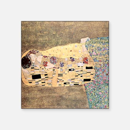 "The_Kiss_Gustav_Klimt_2000s Square Sticker 3"" x 3"""
