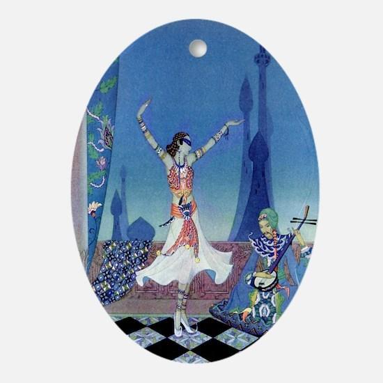 Morgiana Dances Oval Ornament