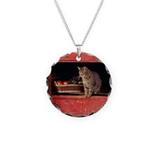 cat in chest Necklace