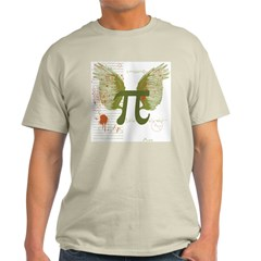 Winged Pi Ash Grey T-Shirt