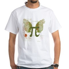 Winged Pi White T-Shirt