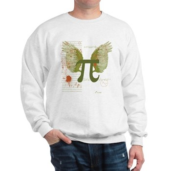 Winged Pi Sweatshirt | Gifts For A Geek | Geek T-Shirts