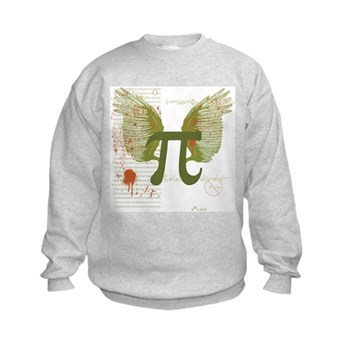 Winged Pi Kids Sweatshirt | Gifts For A Geek | Geek T-Shirts