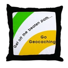 Geocaching Off the Path Throw Pillow