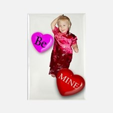 Be Mine Be My Valentine Rectangle Magnet