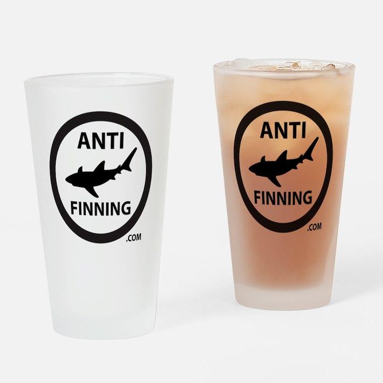 Bull Shark (Tighter) - Anti-Shark F Drinking Glass