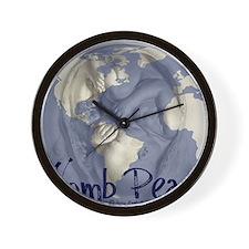 wombpeace2 Wall Clock