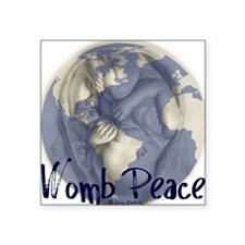 "wombpeace2 Square Sticker 3"" x 3"""