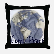 wombpeace2 Throw Pillow