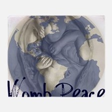 wombpeace2 Throw Blanket